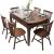 晟揚伸縮テーブル円卓純木食テーブルと椅子の組み合わせが折れたままのテーブルテーブルとテーブルのセット北欧シンプテーブル胡桃色【ウィンザーチェア配合】六椅子