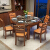中国語の家庭用ゴム木純木のテーブルとテーブルの組み合わせモダン中华四角いテーブルとテーブルの小さなテーブルの小さなテーブルテーブルの大理石の表面のテーブルの6つの椅子