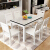 Navien moda inシンプレルテーブルモノクロ純木テーブルレストラン家具中小タワーテーブルセット長方形鋼化ガラステーブルテーブル純木テーブルモノクロテーブル六椅子(1.35 m)