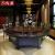 鴻盈電動テーブル大円卓レストラン純木テーブルセットホテル円卓2.8 m 16人20人自動回転電磁炉鍋テーブル電気2.8 m(17-19人位)