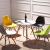 百思宜モダンシンプコーヒーホール面談テーブルとテーブルとテーブルとテーブルとイスの組み合わせ80 cmの白い円卓/4椅子(色は備考してください)