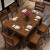林蘭(linlan)純純木食のテーブルとテーブルのセットは中国式モダシンプレルのオークテーブルのセットは全純木小タワー西テーブルで1.45 m地中海-薄い茶色のテーブル六椅子(全純木)です。