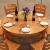 林蘭の食卓のフルコースの木のテーブルと椅子の組み合わせ4人と6人が8人で、円形の多機能伸縮式中国式家庭用の食事テーブルの折りたたみの食卓【全純木】胡桃色1.38メートル【テーブル4椅子】回転盤をプレゼントします。