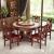 京の東の好ましい大理石の食卓の椅子の円形のテーブルは回転盤の純粋な木の大理石の丸い食卓の洋風の食事のテーブルの椅子の組み合わせの1.2メートルの1テーブルの6つの椅子(回転盤を配合します)の色の備考を持ちます