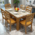 美のイメージテーブル大理石テーブル純木のテーブルとテーブルの組み合わせモダシンプ長方形レストラン家具洋食テーブル白カレー色1.2 mシングルテーブル