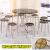 アフリカイーグル折りたたみた角円テーブルが簡単に折りたたみましたテーブル麻雀テーブル折りたたみましたテーブル大円卓家庭用折りたたみたみテーブルの直径96 cm折りたたみました。