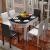 中派食卓は伸縮したテーブルです。多機能純木テーブルは1.35メートルの白+黒のテーブルです。