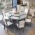 マクロ木林純木テーブル大理石テーブルセット北欧モダシンプレル食事テーブルベルト回転台BMW灰+白(電磁炉を持たない)1.2 mテーブル(回転盤を持たない)