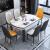 ヽoo纯木餐テーブルと椅子のセットは1.2 mシングルテーブルです。