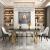 極東トビウオ食卓モダシンプロ家庭でカスタマイズできるミニチュア大理石テーブル6つのテーブル小さなタイプ大理石テーブル140*80*76軽い贅沢テーブル4つのテーブル