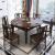 愛惟森新中国式純木可伸缩食テーブルとテーブルと椅子の組み合わせモダシンプ中小タイプ家庭用食事テーブルレストランの家具は回転台一つのテーブルを持っていません。