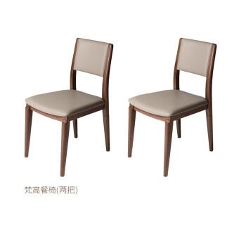 銅木主義ゴッホシリーズのレストランの家具用テーブルと米国の黒いクルミ純木家具用の椅子(二つ)