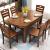 ブリーガー純木テーブルが伸縮して折れたみみ純木食テーブルとテーブルセットの食事テーブルテーブルテーブルテーブル9460茶/胡桃色/カイドウ色(1.2 m)テーブル4椅子