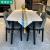 梵束テーブル意式軽い贅沢な岩板テーブルとテーブルとテーブルとテーブルセットのモダシンプ純木小タイプ家庭用長方形テーブル1.5 m岩板純木テーブル+4椅子
