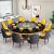 甲门の家庭用の大きい円卓のしゃぶしゃぶなべの机の电磁炉の一体のしゃぶしゃぶなべのテーブルと椅子の组み合わせのテーブルの1人の鍋の小さいしゃぶしゃぶなべの1.5メートルの8つのストーブ+8椅子+しゃぶしゃぶなべ+黒い回転盘の公式の标识は配合します